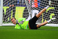 Liverpool goalkeeper Loris Karius warms up during the EPL - Premier League match between Crystal Palace and Liverpool at Selhurst Park, London, England on 29 October 2016. Photo by Steve McCarthy.