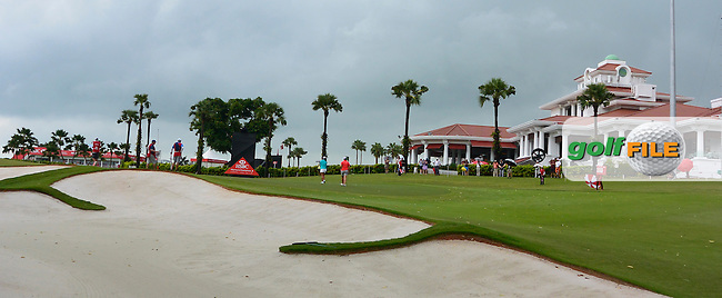 A view of the 9th green during Round 2 of the HSBC Women's Champions on Friday 3rd March 2017.<br /> Picture:  Thos Caffrey / Golffile