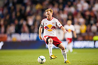 Dax McCarty (11) of the New York Red Bulls. The New York Red Bulls defeated the New England Revolution 4-1 during a Major League Soccer (MLS) match at Red Bull Arena in Harrison, NJ, on March 20, 2013.