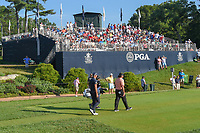 Pat Perez (USA) and Henrik Stenson (SWE) head down 12 during 1st round of the 100th PGA Championship at Bellerive Country Cllub, St. Louis, Missouri. 8/9/2018.<br /> Picture: Golffile | Ken Murray<br /> <br /> All photo usage must carry mandatory copyright credit (© Golffile | Ken Murray)