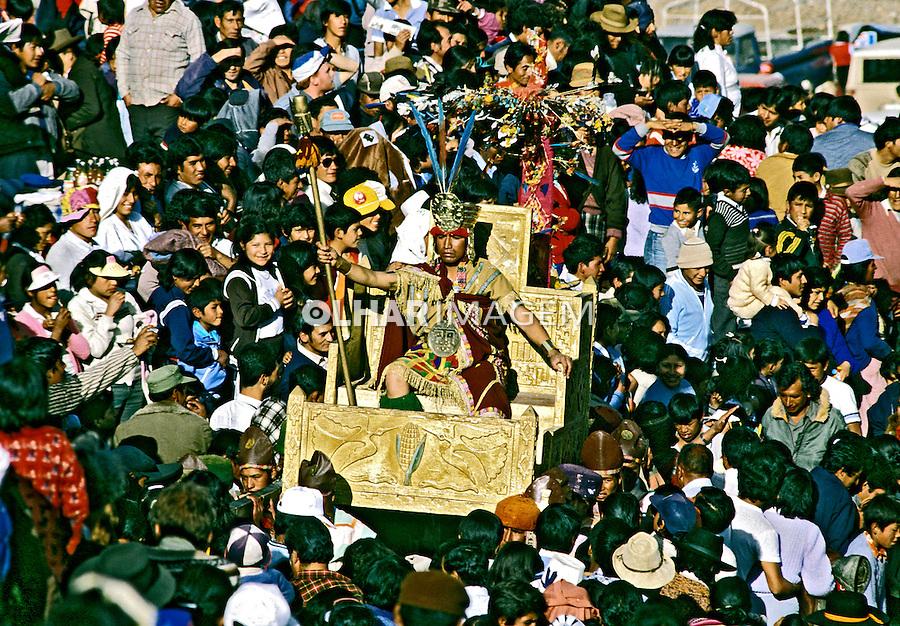 Festa do sol, Inti Raimi em Cuzco. Perú. 06.1994. Foto de Juca Martins.