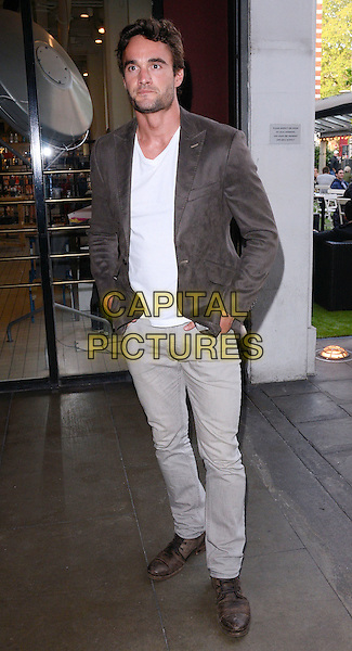 LONDON, ENGLAND - MAY 04: Thom Evans attends the Bluebird Brunch launch party, an all-day-party-come-brunch each Sunday, Bluebird bar &amp; restaurant, King's Rd., on Sunday May 04, 2014 in London, England, UK.<br /> CAP/PP/MB<br /> &copy;Michael Ball/PP/Capital Pictures