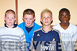 Killarney Celtic players at the Kerry Schoolboy's awards night in the Gleneagle Hotel Killarney Friday evening l-r: Craig Hickey, Matthew Moynihan, Scott O'Mahony and Nzaukin Futa    Copyright Kerry's Eye 2008