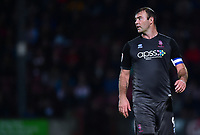 Lincoln City's Matt Rhead<br /> <br /> Photographer Andrew Vaughan/CameraSport<br /> <br /> The EFL Checkatrade Trophy Northern Group H - Scunthorpe United v Lincoln City - Tuesday 9th October 2018 - Glanford Park - Scunthorpe<br />  <br /> World Copyright &copy; 2018 CameraSport. All rights reserved. 43 Linden Ave. Countesthorpe. Leicester. England. LE8 5PG - Tel: +44 (0) 116 277 4147 - admin@camerasport.com - www.camerasport.com