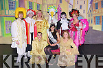 "GUEST; Guest of honour at  the opening night of the Oliver Hurley production of ""MOTHER GOOSE"" Panto was the regining Rose of Tralee Clare Kambamutte, and after the panto she gets to meet the main casty. L-r: Gary Murphy(Billy Goose), Aki O'Rourkr (King Gander), Mike Lynch (Squire Goodheart), Tom Hanafin(Mother Goose), Cathal O'Donnell(Pricilla the Goose), Alan Teahan (Demon of Discontent), Anna Curtin (Goosedown) and Anna Hayes (jill Goodheart).. . ............................... .........."