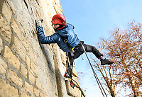 BNPS.co.uk (01202 558833)<br /> Pic: RichardCave/Blenheim/BNPS<br /> <br /> Guy Miller inspects crevices in stonework.<br /> <br /> Crack bat squad drops in on Blenheim Estate's famous Vanburgh bridge...<br /> <br /> Abseiling ecologists have been monitoring rare bat colonies roosting inside Blenheim Estate's historic Grand Bridge.<br /> <br /> The unusual survey is taking place ahead of a multi-million pounds restoration project for the bridge, designed by 18th century architect and playwright John Vanbrugh, which gets under way next year.<br /> <br /> Guy Miller, a licenced bat ecologist with qualifications in aerial rescue and tree climbing, abseiled down the side of iconic bridge at Sir Winston Churchill's birthplace to inspect features which could support roosting bats and breeding birds. <br /> <br /> High-specification thermal imaging cameras and bat echolocation detectors are being used to identify any roosts.