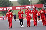 16.07.2020, Hungaroring, Budapest, Formel 1 Grand Prix Großer Preis von Ungarn 2020, im Bild<br />Sebastian Vettel (GER#5), Scuderia Ferrari geht mit seinen Ingenieuren um die Strecke<br /> <br /> Foto © nordphoto / Bratic