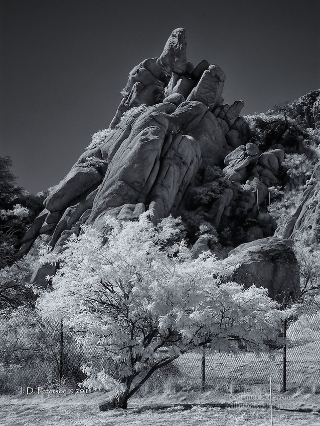 Granite and Mesquite, Texas Canyon, Arizona (Infrared)