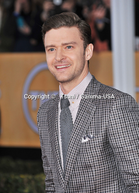 Justin Timberlake   the 19th Ann. SAG Awards 2013 at the Shrine Auditorium In Los Angeles.