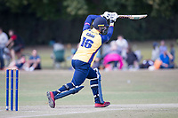 Sam Cook of Essex drives through the covers during Upminster CC vs Essex CCC, Benefit Match Cricket at Upminster Park on 8th September 2019
