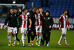 John Lundstram of Sheffield Utd enjoys the end of the match during the Championship match at the Macron Stadium, Bolton. Picture date 12th September 2017. Picture credit should read: Simon Bellis/Sportimage