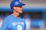 Wildcats Head Coach DJ Whittemore works the sidelines of a game against Salt Lake Community College at Western Nevada College in Carson City, Nev., on Thursday, March 5, 2015. <br /> Photo by Cathleen Allison/Nevada Photo Source