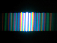 INTERFERENCE & DIFFRACTION FRINGE PATTERNS<br /> Spectral Diffraction - White Light By Single Slit<br /> A single slit of white light passes through a diffraction grating to create a spectral Fraunhofer diffraction pattern.
