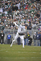 27 November 2010:  Michigan State QB Kirk Cousins (8) throws..The Michigan State Spartans defeated the Penn State Nittany Lions 28-22 to win the Land Grant Trophy at Beaver Stadium in State College, PA.