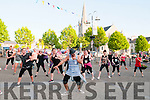 FOR FEALE PAGE <br /> <br /> Writers Week: Listowel Zumba Dancers performing in the Square, Listowel on Friday evening last during Writers Week.