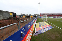 Work progresses at the North End of the ground during Stevenage vs Luton Town, Sky Bet EFL League 2 Football at the Lamex Stadium on 10th February 2018