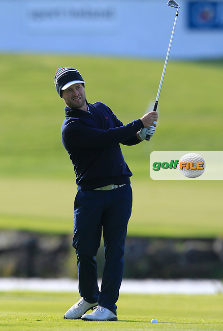 David Lingmerth (SWE) on the 1st during Wednesday's Pro-Am round of the Dubai Duty Free Irish Open presented  by the Rory Foundation at The K Club, Straffan, Co. Kildare<br /> Picture: Golffile | Thos Caffrey<br /> <br /> All photo usage must carry mandatory copyright credit <br /> (&copy; Golffile | Thos Caffrey)