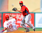 3 March 2011: Washington Nationals' infielder Ian Desmond in action during a Spring Training game against the St. Louis Cardinals at Roger Dean Stadium in Jupiter, Florida. The Cardinals defeated the Nationals 7-5 in Grapefruit League action. Mandatory Credit: Ed Wolfstein Photo