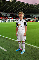 Pictured: Children mascots.<br /> Monday 16 September 2013<br /> Re: Barclay's Premier League, Swansea City FC v Liverpool at the Liberty Stadium, south Wales.