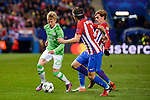 Atletico de Madrid's player Filipe Luis and Antoine Griezmann and PSV Eindhoven's players Olexandr Zinchenko during a match of La Liga at Vicente Calderon Stadium in Madrid. November 22, Spain. 2016. (ALTERPHOTOS/BorjaB.Hojas)