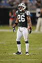 DWIGHT LOWERY, of the New York Jets in action during the Jets game against the Carolina Panthers  at Bank of America Stadium in Charlotte, N.C.  on August 21, 2010.  The Jets beat the Panthters 9-3 in the second week of preseason games...