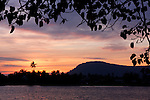 Sunset over Kampong Bay River, Kampot, Cambodia