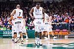 S&ouml;dert&auml;lje 2014-04-15 Basket SM-Semifinal 5 S&ouml;dert&auml;lje Kings - Uppsala Basket :  <br /> Uppsalas Dee Ayuba deppar<br /> (Foto: Kenta J&ouml;nsson) Nyckelord:  S&ouml;dert&auml;lje Kings SBBK Uppsala Basket SM Semifinal Semi T&auml;ljehallen depp besviken besvikelse sorg ledsen deppig nedst&auml;md uppgiven sad disappointment disappointed dejected