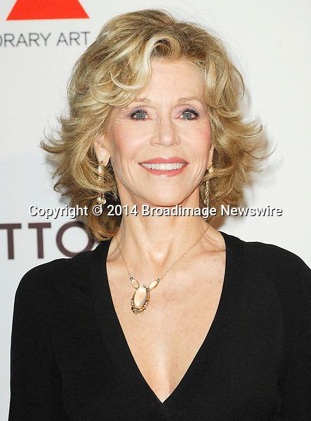 Pictured: Jane Fonda<br /> Mandatory Credit &copy; Adhemar Sburlati/Broadimage<br /> MOCA's 35th Anniversary Gala Presented By Louis Vuitton<br /> <br /> 3/29/14, Los Angeles, California, United States of America<br /> <br /> Broadimage Newswire<br /> Los Angeles 1+  (310) 301-1027<br /> New York      1+  (646) 827-9134<br /> sales@broadimage.com<br /> http://www.broadimage.com