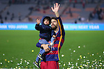 Gerard Pique (Barcelona), <br /> DECEMBER 20, 2015 - Football / Soccer : <br /> FIFA Club World Cup Japan 2015 <br /> award ceremony  <br /> at Yokohama International Stadium in Kanagawa, Japan.<br /> (Photo by Yohei Osada/AFLO SPORT)