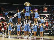 Washington, DC - March 10, 2018: Rhode Island Rams cheerleaders during the Atlantic 10 semi final game between Saint Joseph's and Rhode Island at  Capital One Arena in Washington, DC.   (Photo by Elliott Brown/Media Images International)