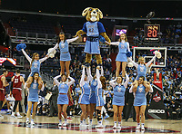 Washington, DC - March 10, 2018: Rhode Island Rams cheerleaders during the Atlantic 10 semi final game between Saint Joseph's and Rhode Island at  Capital One Arena in Washington, DC.   (Photo by Elliott Brown/Media Images International)