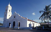 The Iglesia de Nata in the town of Nata, Cocle province, Panama. This restored Spanish colonial church is said to be the oldest functioning church in Panama.
