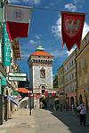 Florianska Street in Cracow, Poland