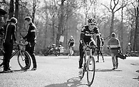 Salvatore Puccio (ITA/Sky) off again after the Bois de Wallers-Arenberg sector<br /> <br /> 2015 Paris-Roubaix recon with Team SKY