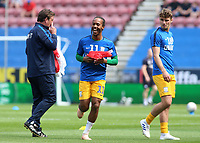 Preston North End's Daniel Johnson is all smiles during the pre-match warm-up <br /> <br /> Photographer David Shipman/CameraSport<br /> <br /> The EFL Sky Bet Championship - Wigan Athletic v Preston North End - Monday 22nd April 2019 - DW Stadium - Wigan<br /> <br /> World Copyright © 2019 CameraSport. All rights reserved. 43 Linden Ave. Countesthorpe. Leicester. England. LE8 5PG - Tel: +44 (0) 116 277 4147 - admin@camerasport.com - www.camerasport.com