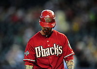 Jun. 1, 2011; Phoenix, AZ, USA; Arizona Diamondbacks third baseman Ryan Roberts against the Florida Marlins at Chase Field. Mandatory Credit: Mark J. Rebilas-