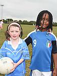 Anna McDonnell and Cailyn Obi at the Newtown Blues GAA Juvenile Triathlon Fundraiser.  Photo:Colin Bell/pressphotos.ie