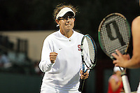 18 May 2006: Anne Yelsey during Stanford's 4-0 win over TCU in the round of 16 in the 2006 NCAA Women's Tennis Team Championships at the Taube Family Tennis Stadium in Stanford, CA.