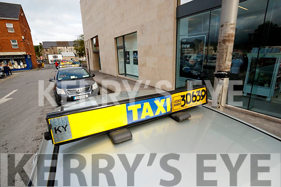 Taxi Rank at Abbeycourt in Tralee on Tuesday.