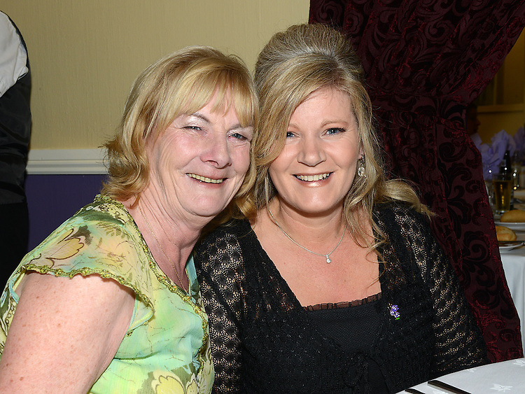 Mary Shields and Hillary Kelly pictured at the Cystic Fibrosis gala ball in the Grove Hotel Dunleer. Photo:Colin Bell/pressphotos.ie
