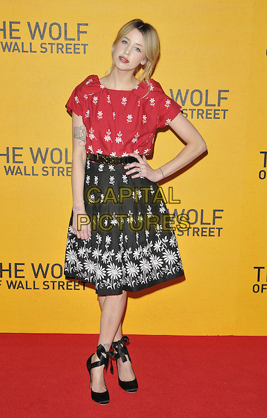 LONDON, ENGLAND - JANUARY 09: Peaches Geldof attends the 'The Wolf Of Wall Street' UK film premiere, Odeon Leicester Square cinema, Leicester Square, on Thursday January 09, 2014 in London, England, UK.<br /> CAP/CAN<br /> &copy;Can Nguyen/Capital Pictures