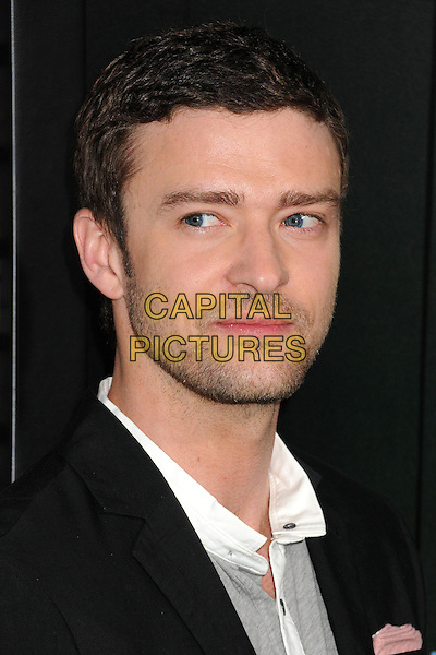 "Justin Timberlake.""Trouble With The Curve"" Los Angeles Premiere held at the Regency Village Theatre, Westwood, California, USA..September 19th, 2012.headshot portrait black grey gray white stubble facial hair    .CAP/ADM/BP.©Byron Purvis/AdMedia/Capital Pictures."