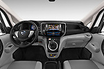 Stock photo of straight dashboard view of a 2015 Nissan NV200 Optima 4 Door Cargo Van 2WD Dashboard