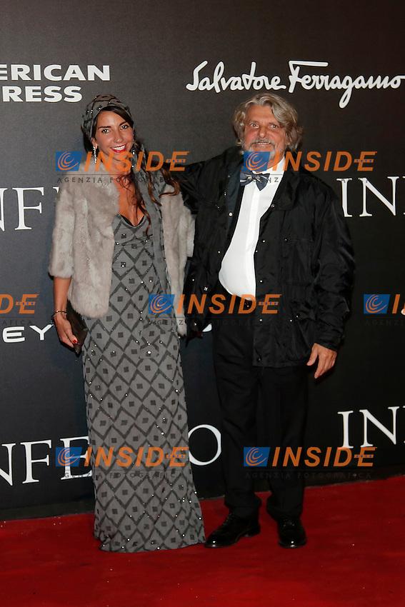 Massimo Ferrero con la moglie Manuela Ramunni<br /> Firenze 08-10-2016. 'Inferno' Anteprima Mondiale.<br /> Florence 8th October 2016. 'Inferno' World Premiere.<br /> Foto Samantha Zucchi Insidefoto