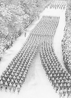 BNPS.co.uk (01202 558833)<br /> Pic: Pen&Sword/BNPS<br /> <br /> PICTURED: The Corps took its rightful place in the Victory Parade.<br /> <br /> These inspiring photos of nurses on the front line feature in a new book which charts a century's heroic wartime service.<br /> <br /> The First Aid Nursing Yeomanry (FANY) was founded in 1907 by Captain Edward Baker with the early recruits trained in cavalry, signalling and camping.<br /> <br /> They were despatched to France at the outset for World War One to tend to injured troops on the battlefield, setting up hospitals for the many casualties. Other heroines dragged wounded personnel from exploding ammunition dumps.<br /> <br /> The brave nurses were again in the centre of the action in World War Two, performing sterling work in the harshest of conditions.<br /> <br /> Their stories feature in The First Aid Nursing Yeomanry in War and Peace, by Hugh Popham.