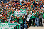Fans attend the final match of the Palestinian Cup (Abu Ammar Cup) between Shabab Hebron players and Ozlan south (Zahryah) players, in the West Bank city of Hebron, on October 15, 2016. Photo by Wisam Hashlamoun