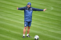20th April 2020, Munich, Germany; Hans Dieter Flick (Trainer Bayern Munich) gives instructions to spread out and distance