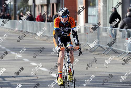 2015-02-28 / Wielrennen / seizoen 2015 / Junioren Rijkevorsel / Sam Van Hout<br /><br />Foto: Mpics.be