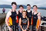 Fenit Rowing Club taking part in the Fenit Regatta on Sunday. L-r, John McCrohan, Timothy Grimes, Trevor Leen, Sean Hennessy and Tara O'Halloran.