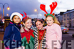 Enjoy the celebrations in Listowel on Sunday evening were L-r Alisha Ahmed, Joanna Brodbeck, Anna Botet and Mollie Mallon.